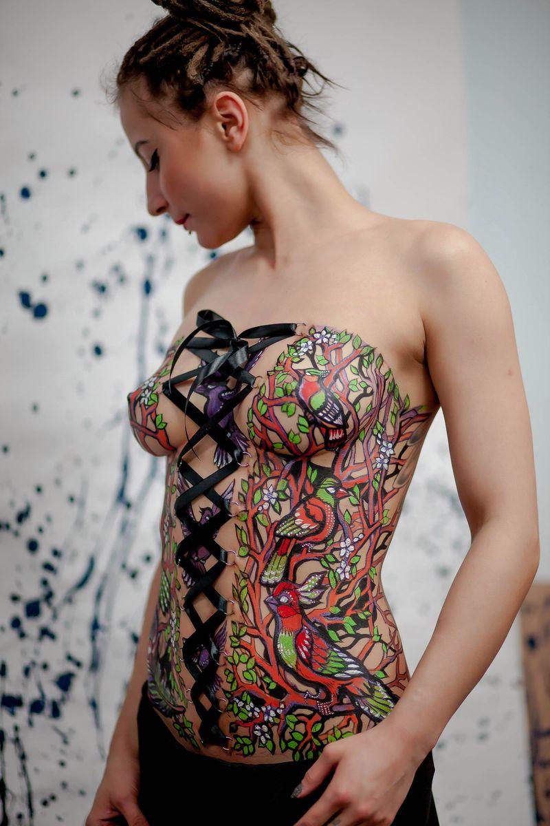 Nude woman with corset piercings, malay virgin kampung girl sex video